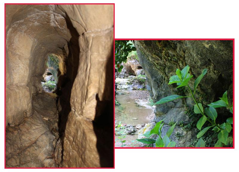 """Pareti  cunicoli al """"Giardino delle Grotte"""", Ara."""