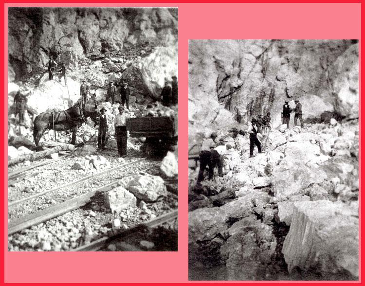 Lavoro alla cava Antoniotti