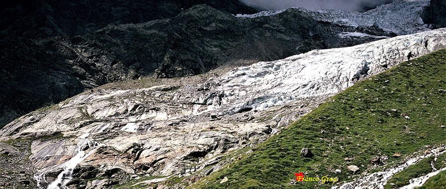 Monte Rosa, fronte del ghiacciaio.