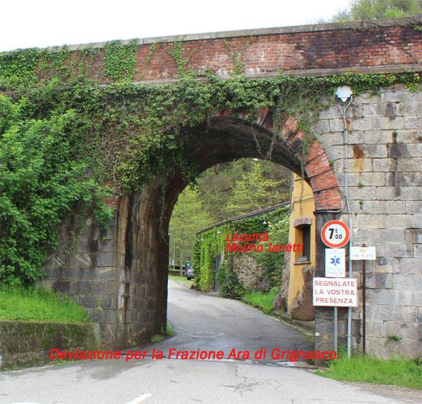 Ponte della Ferrovia e strada per Ara