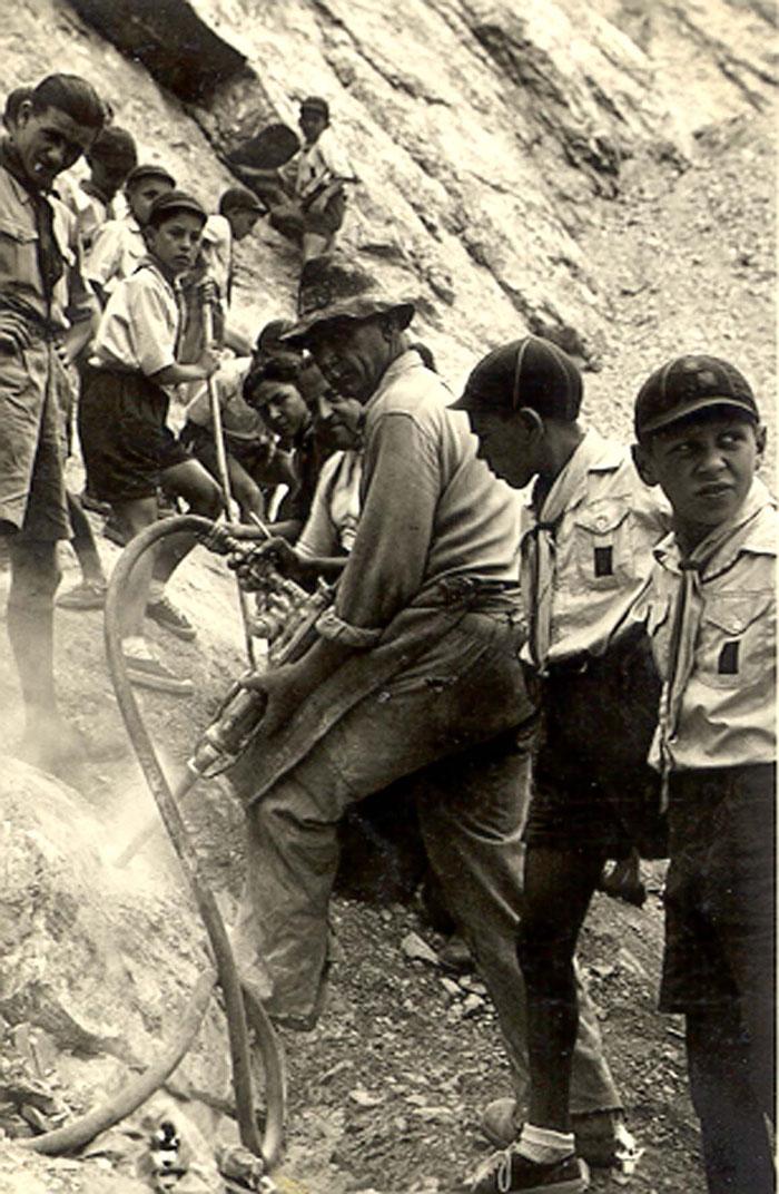 Minatore e scouts