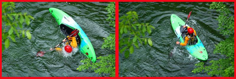 Cayak, esercitazioni. Da sott'acqua alla ripresa della navigazione...