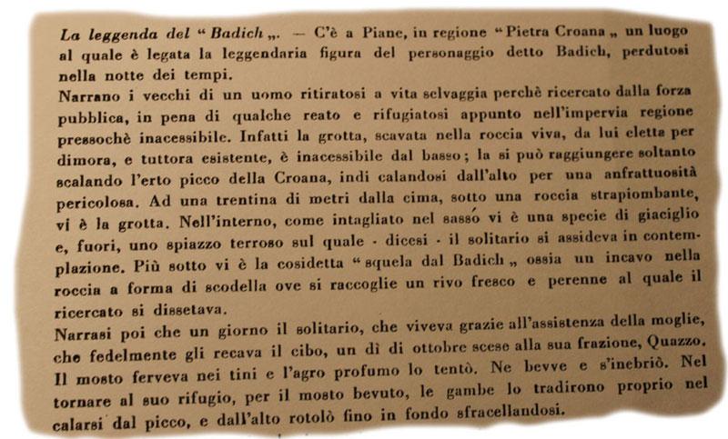 Pagina 689, Leggenda del Badich
