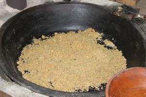 Nella cassarola la pasta è ormai alla giusta temperatura