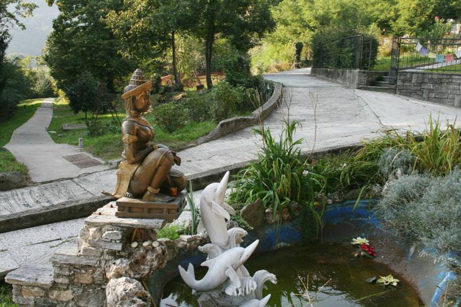 Giardino con la fontana