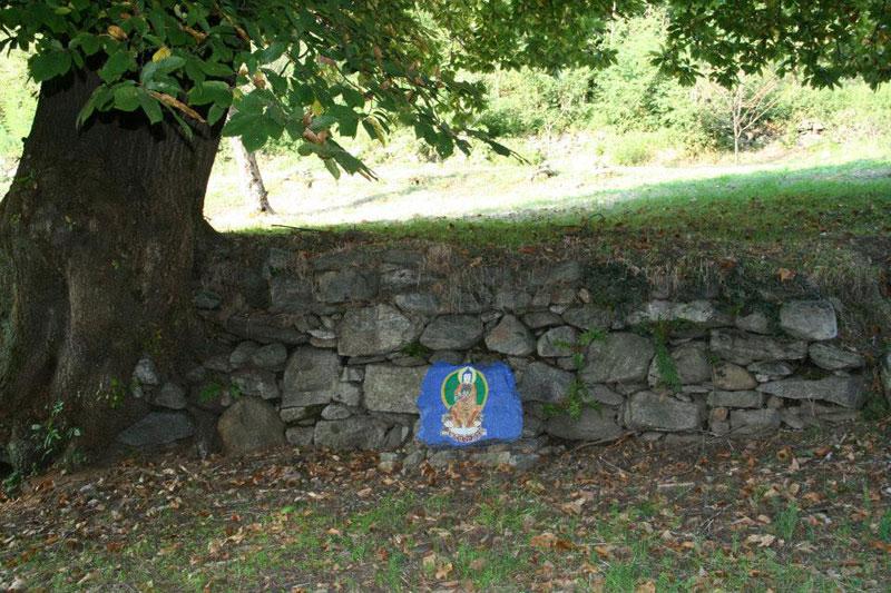 Muro con immagine sacra