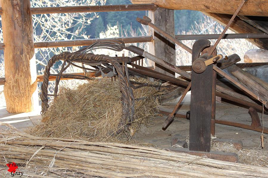 Strumenti di lavoro di un tempo. Museo Mollia  (Foto: Franco Gray)
