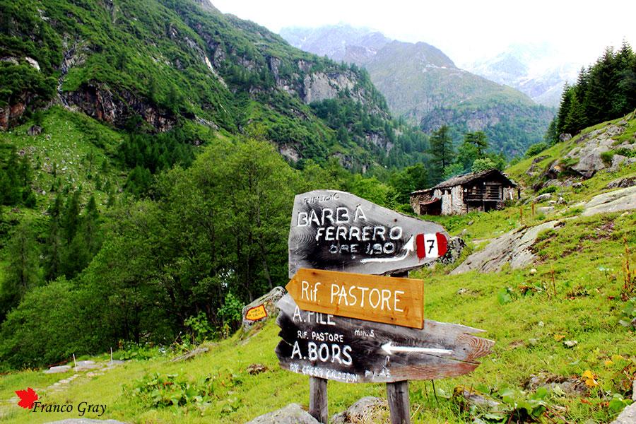 Crocevia per i rifugi del Monte Rosa