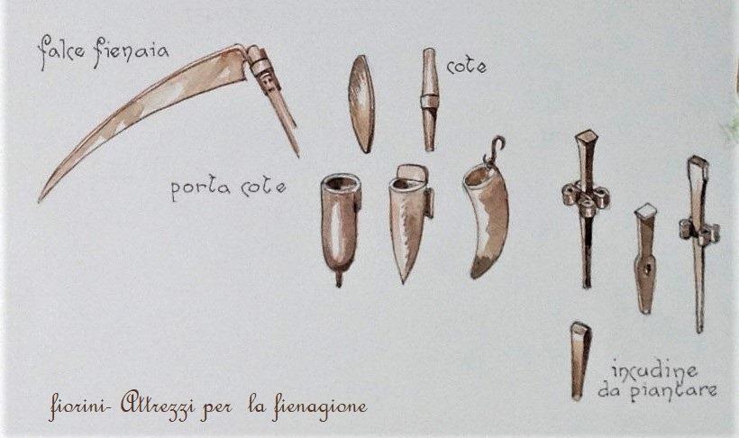 Lama di falce fienaia, tipi di cote e relativi contenitori